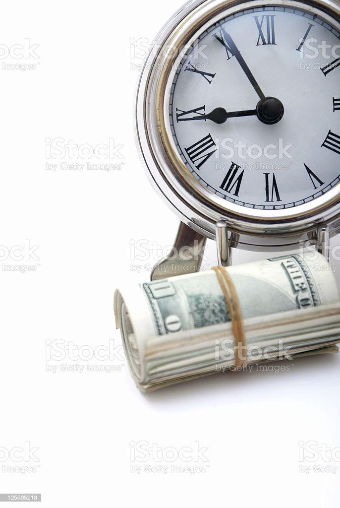 Money and Clock royalty-free stock photo