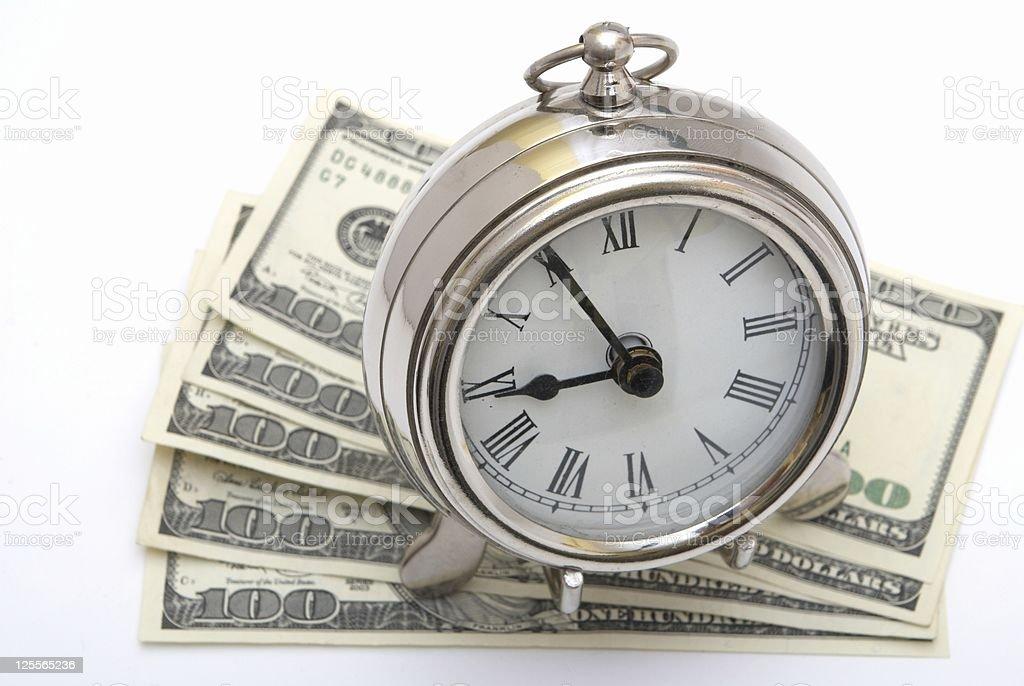 Money and Clock royalty-free stock photo
