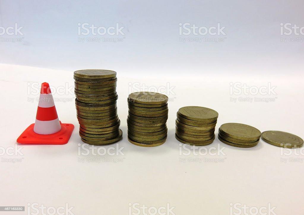 Money and danger stock photo