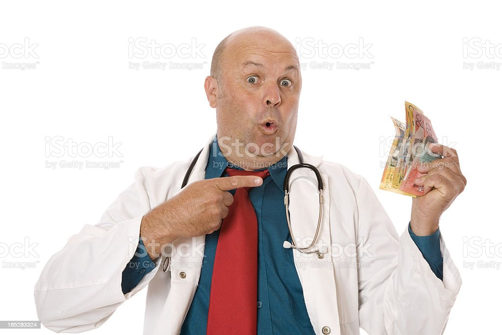 Money and Doctor royalty-free stock photo
