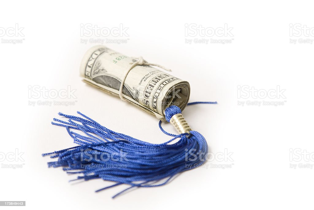 money and education stock photo