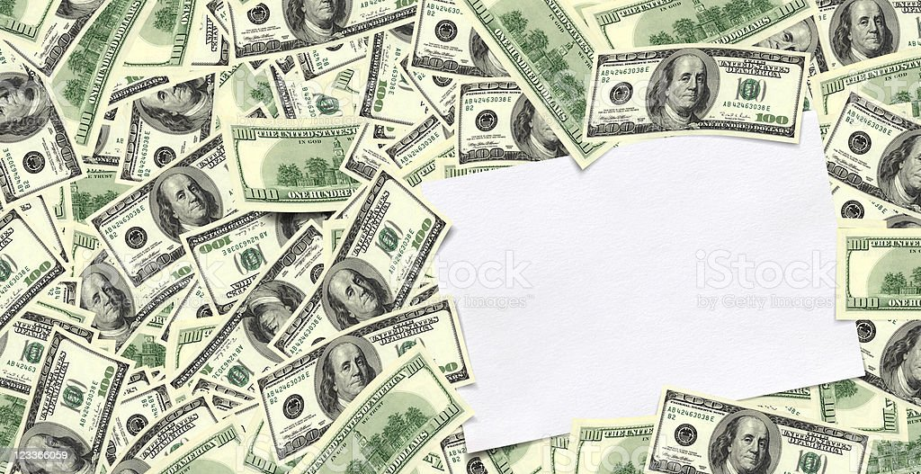 money and empty note pad royalty-free stock photo