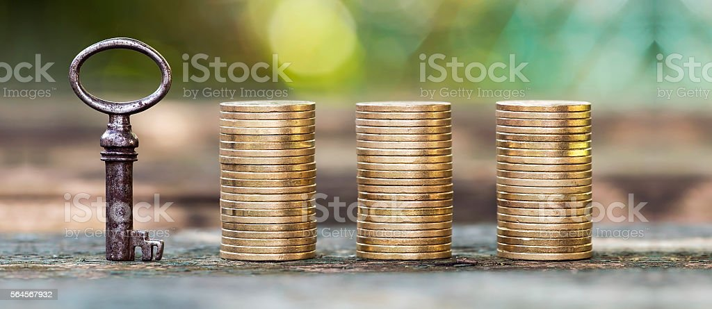 Money and finance banner stock photo