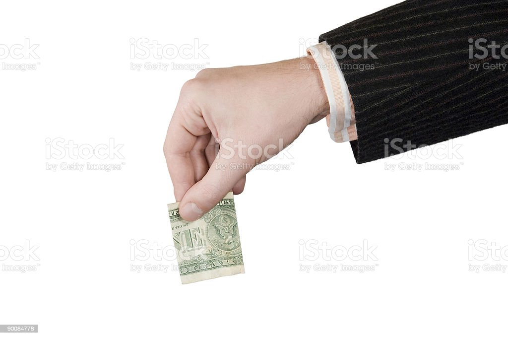 Money and Hand royalty-free stock photo