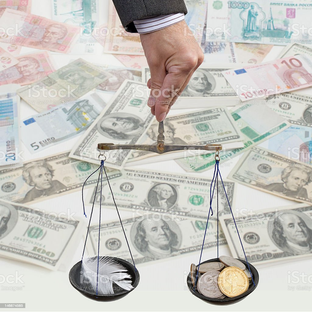 Money and inflation stock photo