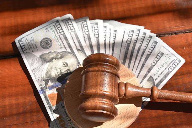 Money and Justice stock photo