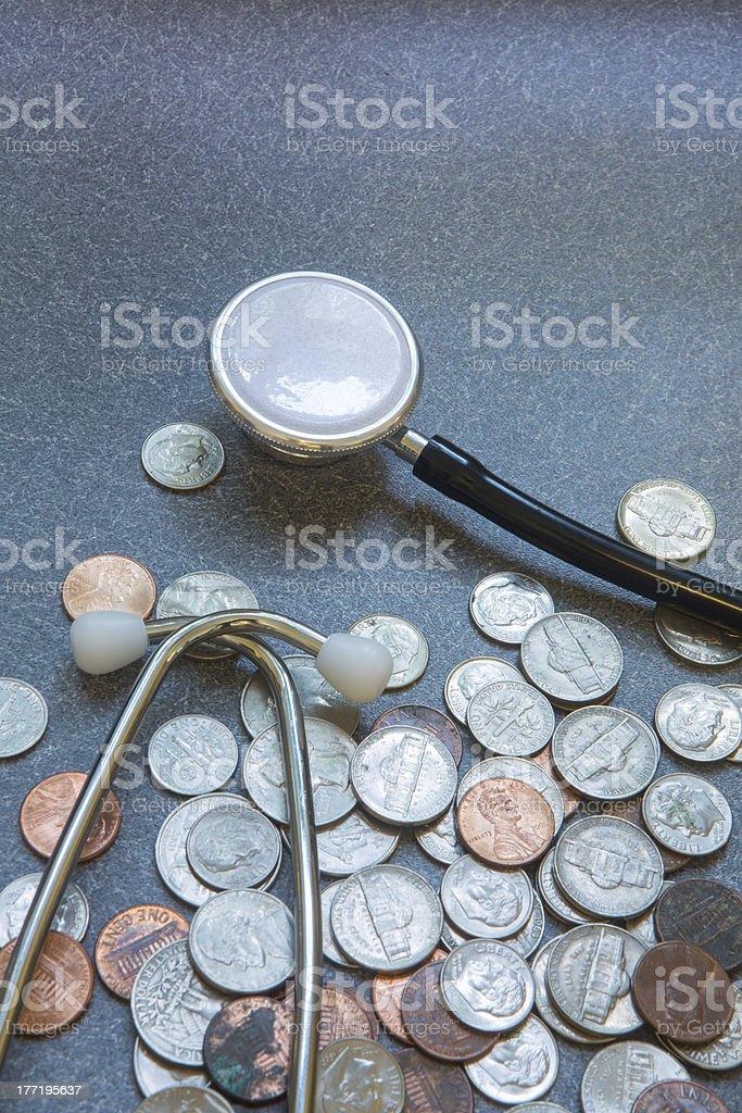 Money and Medicine royalty-free stock photo