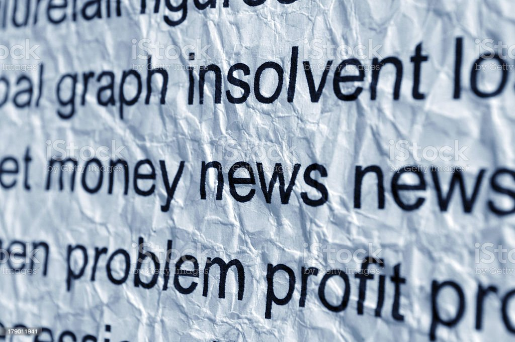Money and news concept royalty-free stock photo