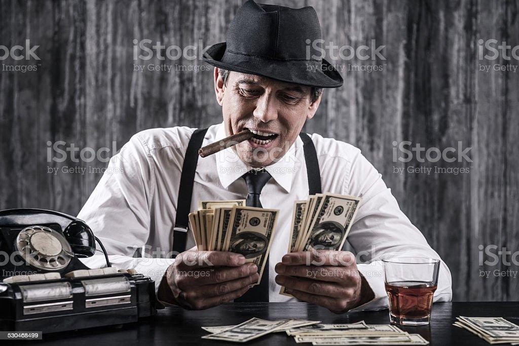 Money and power. stock photo