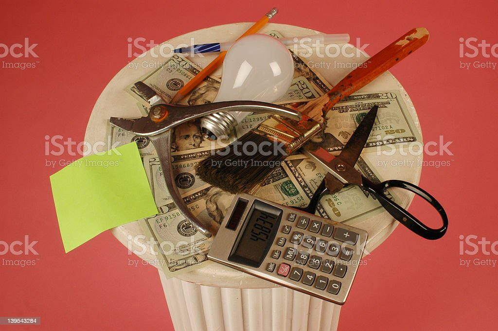 Money and Things royalty-free stock photo