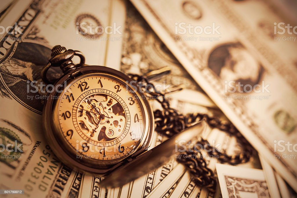 Money and Time Background royalty-free stock photo