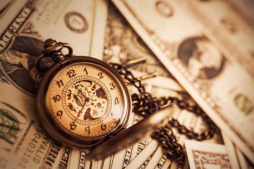 Money And Time Background Stock Photo - Download Image Now