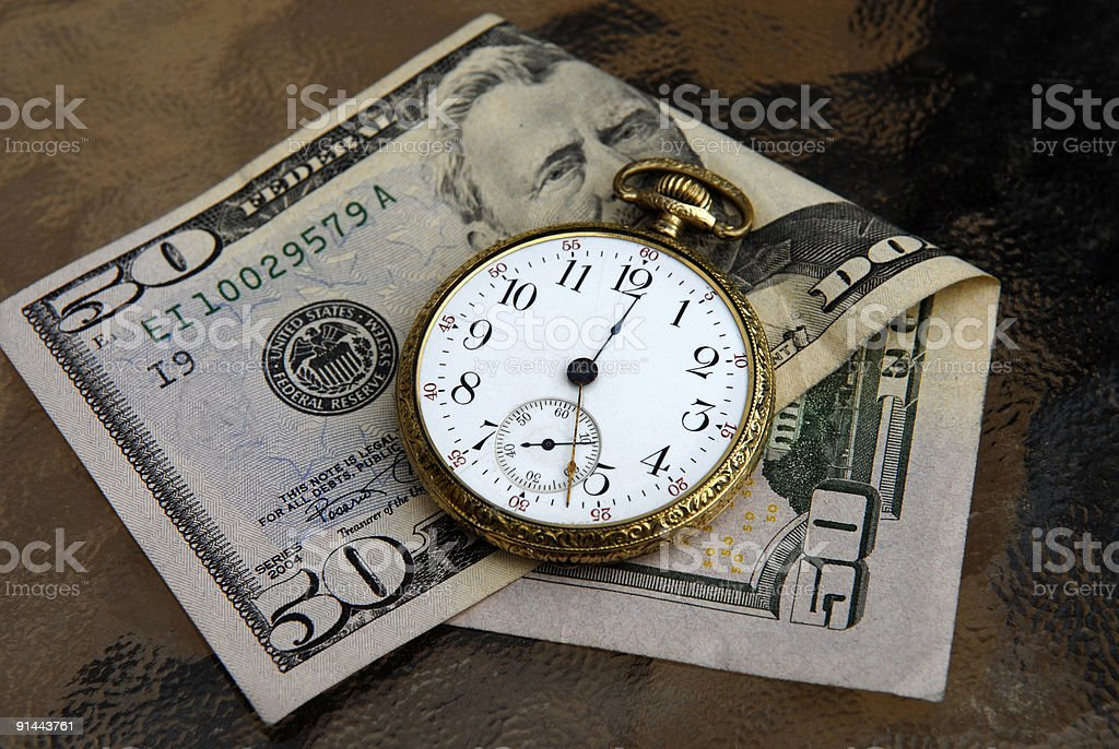 Money and Time Concept Image royalty-free stock photo