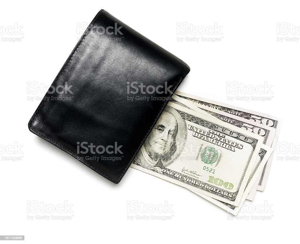 money and wallet royalty-free stock photo