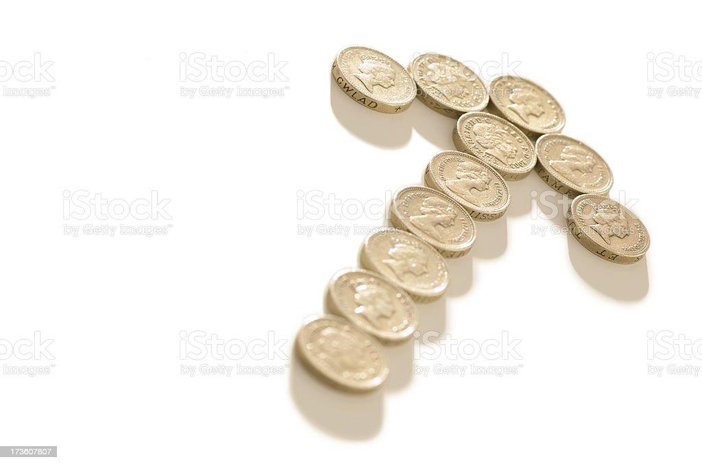 money arrow royalty-free stock photo