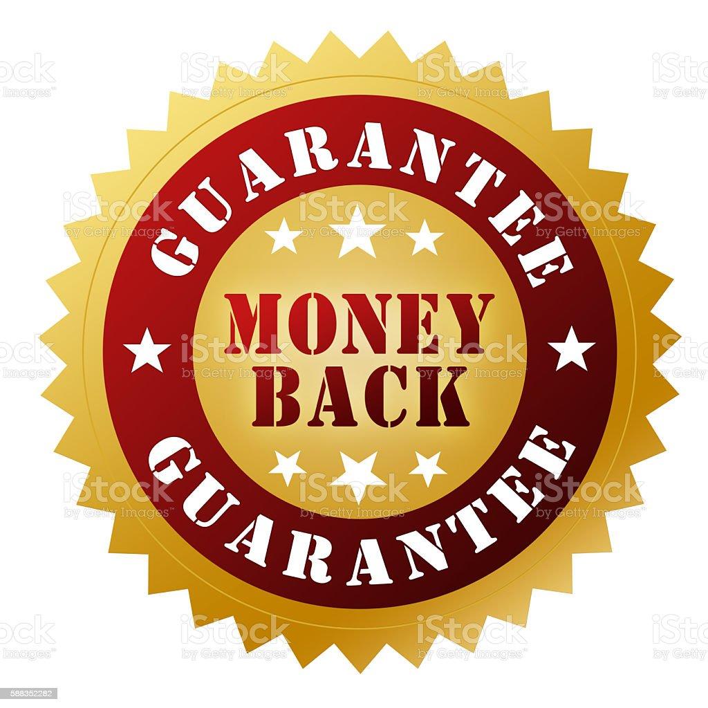 Money back guarantee badge stock photo