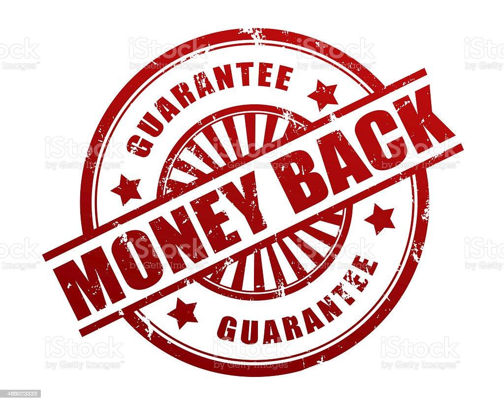 Money back guarantee stock photo
