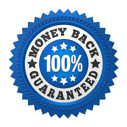 istock Money Back Guaranteed Label Isolated 816086634