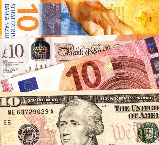 Geldhintergrund aus verschiedenen Papierwährung – Foto