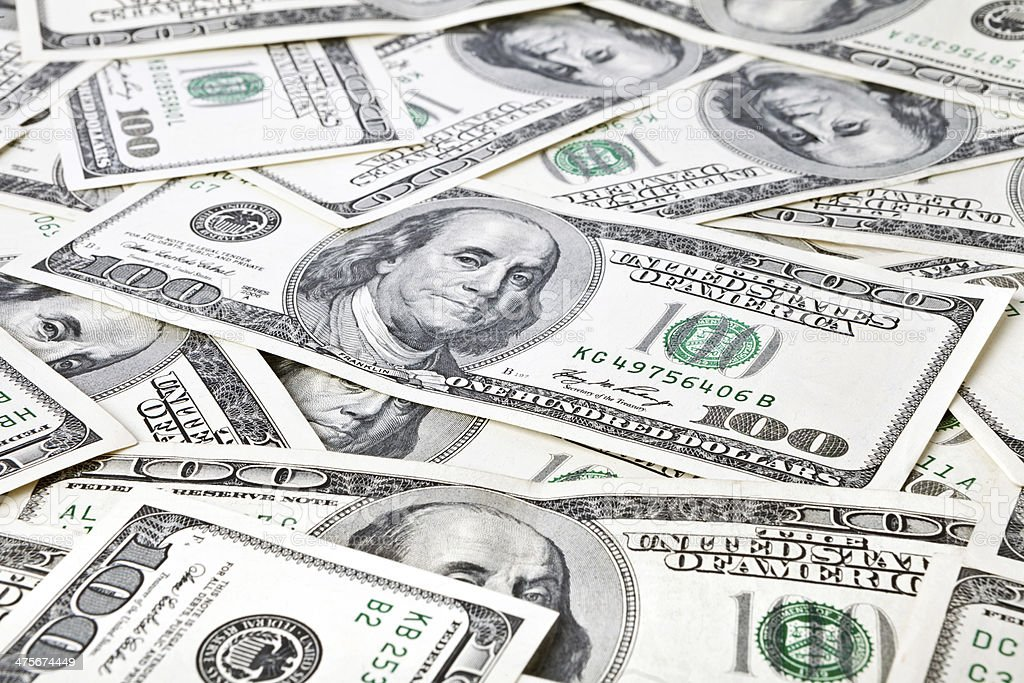money background from dollars usa stock photo