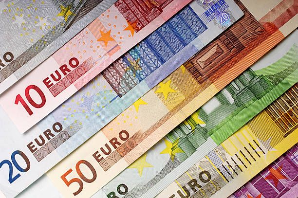 Money Background European Currency. european union currency stock pictures, royalty-free photos & images