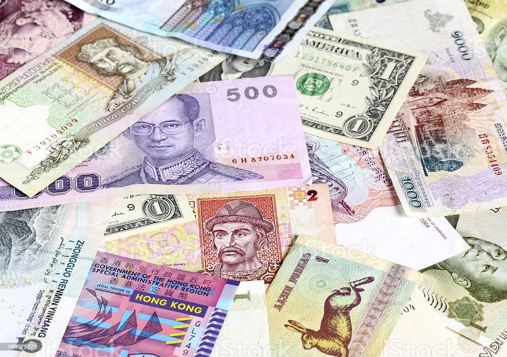 Money background stock photo