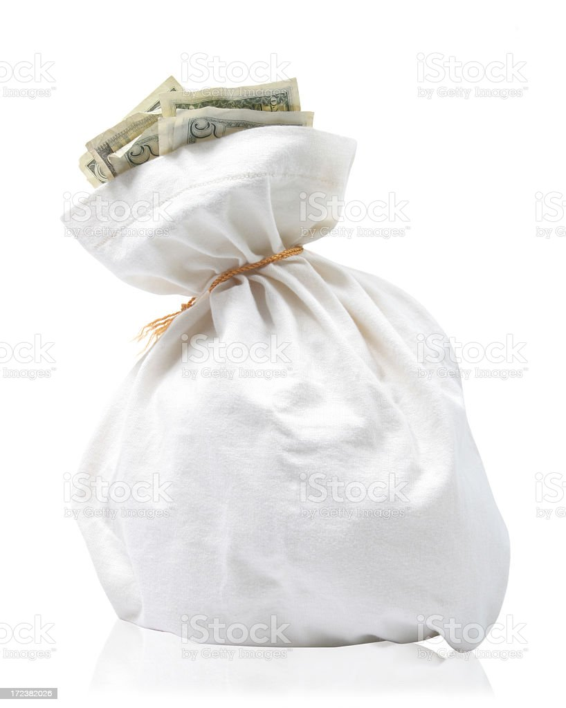 US money bag royalty-free stock photo