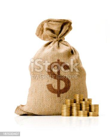 482747823istockphoto Money Bag 182033407