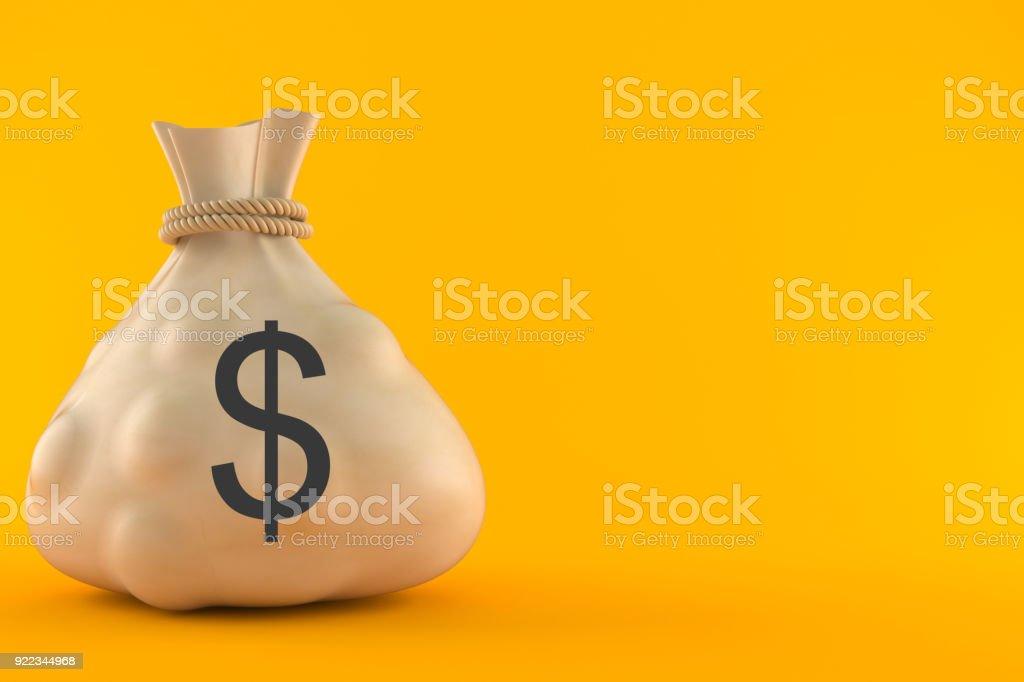 Saco de dinheiro com o símbolo de moeda Dólar - foto de acervo