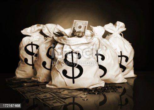 istock Money bags 172167468