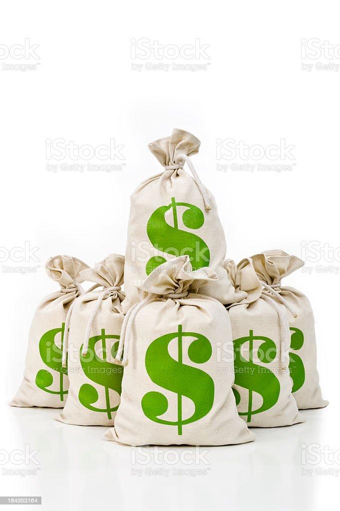 US Money bags royalty-free stock photo