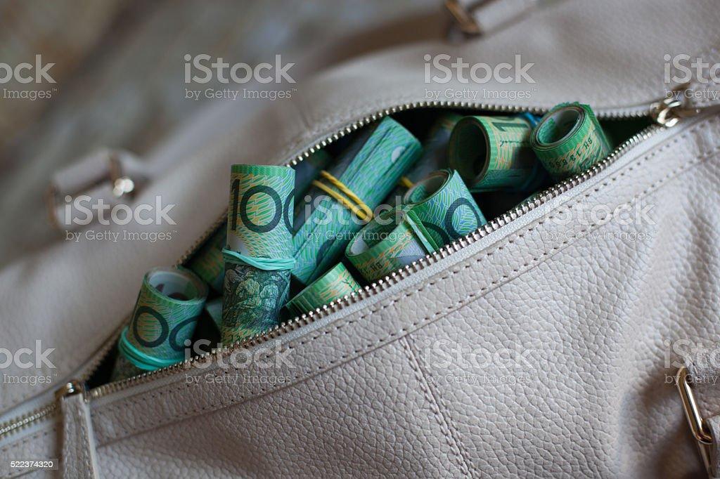 Money bags stock photo