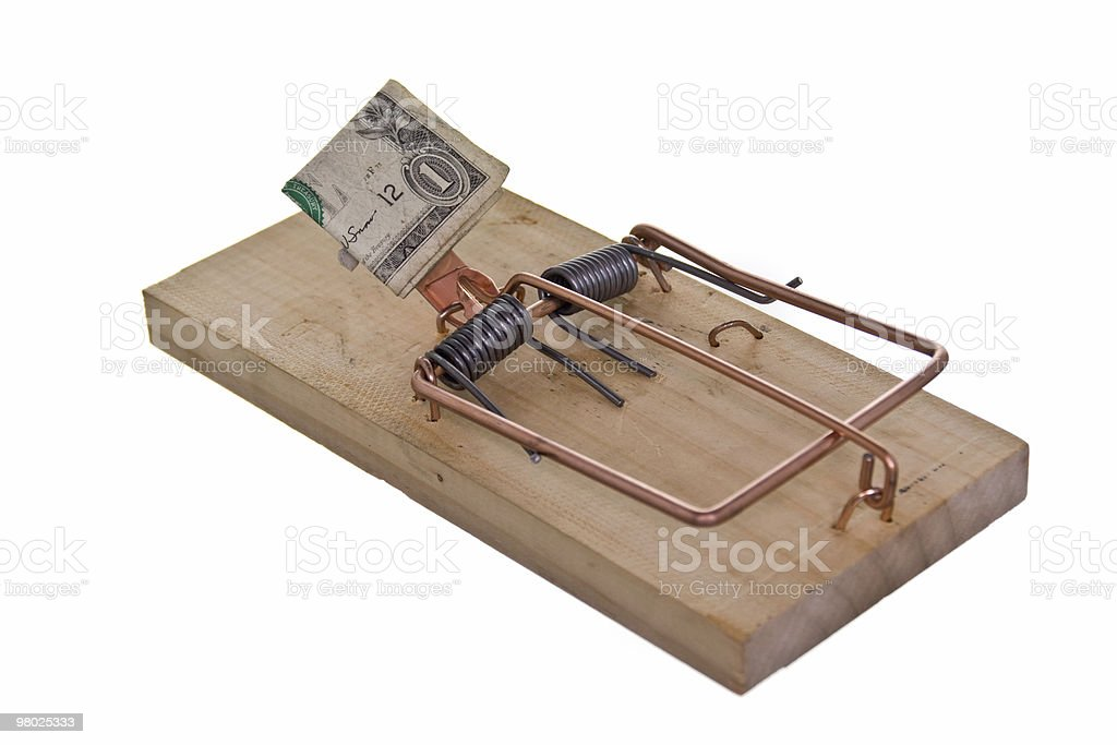 money baited mouse trap royalty-free stock photo