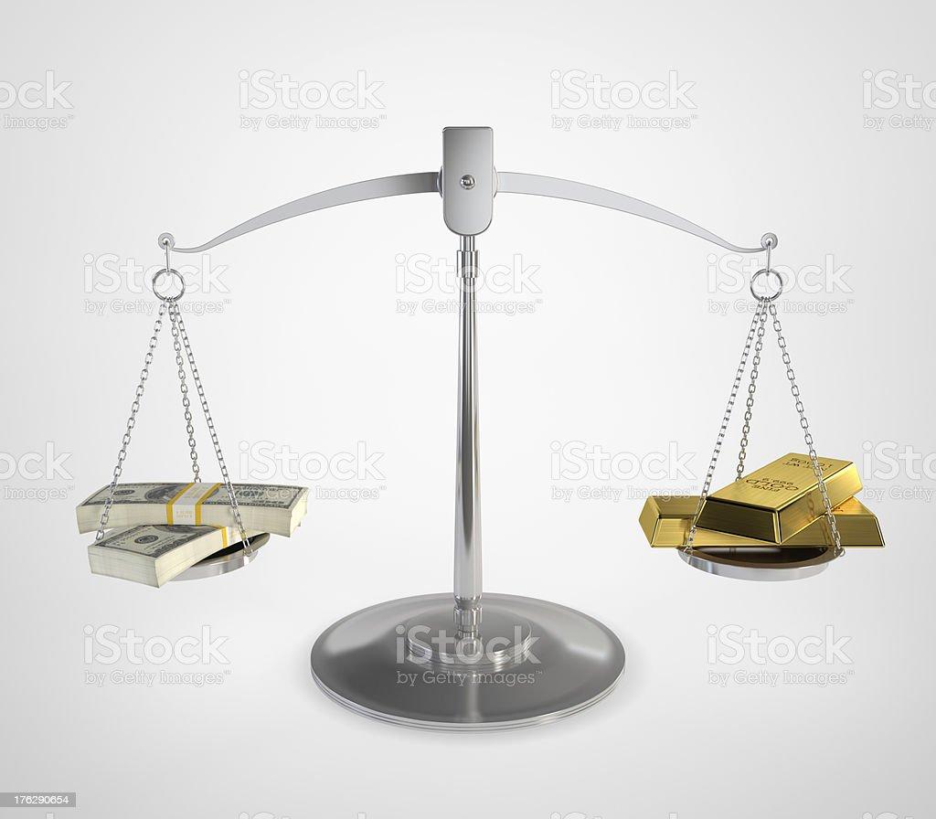 Money balance stock photo