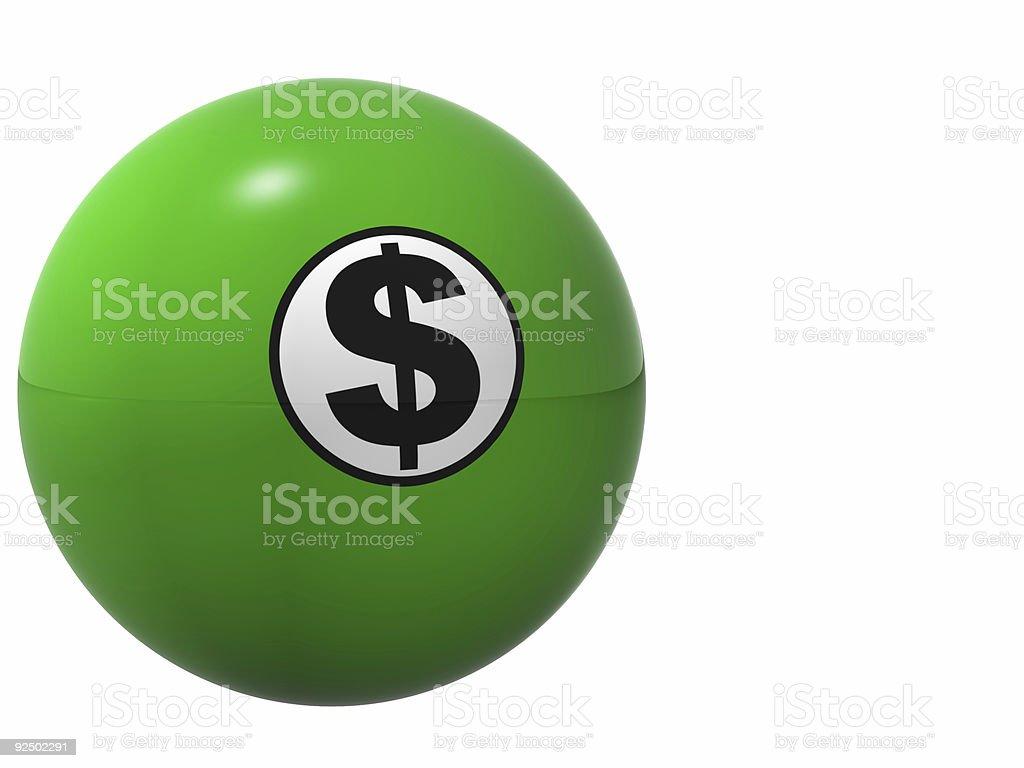 Money Ball royalty-free stock photo