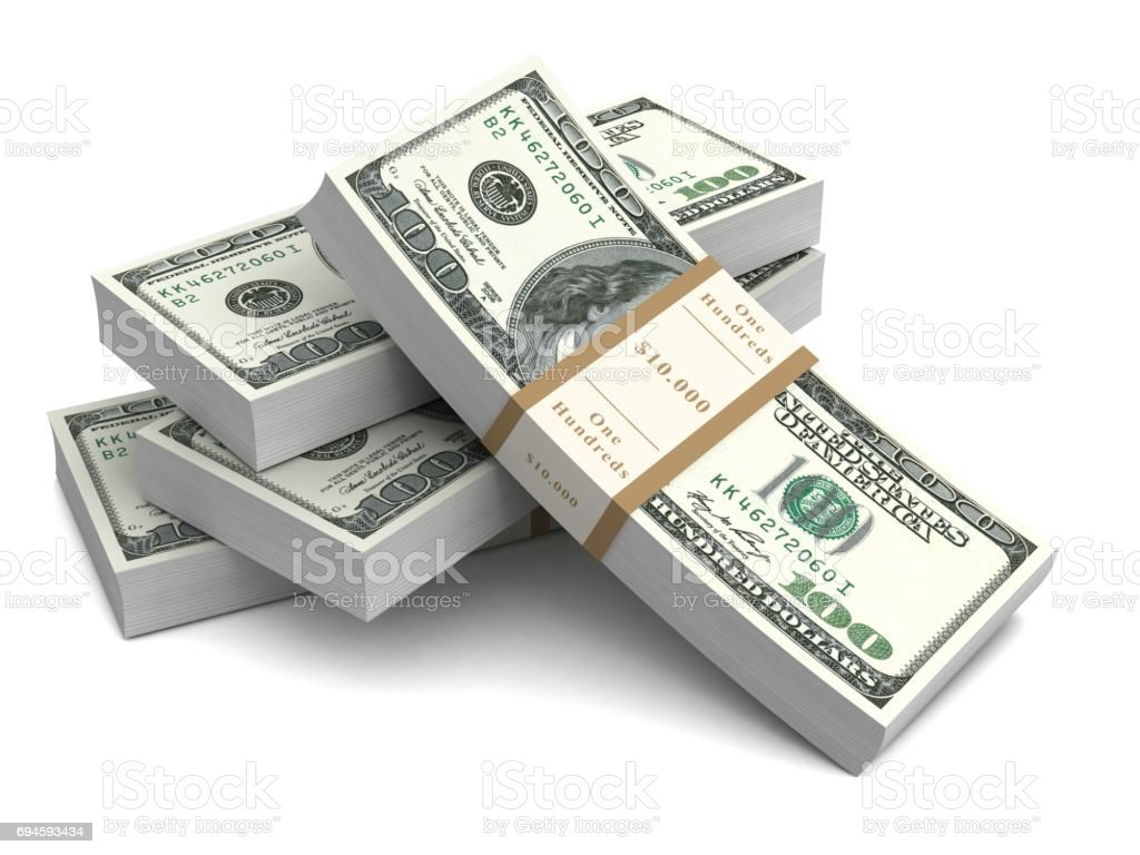 money bills 3d illustration stock photo