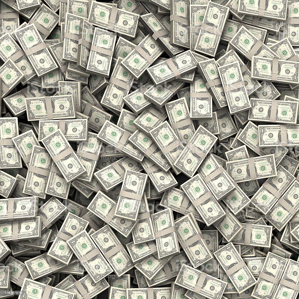Money bills background stock photo
