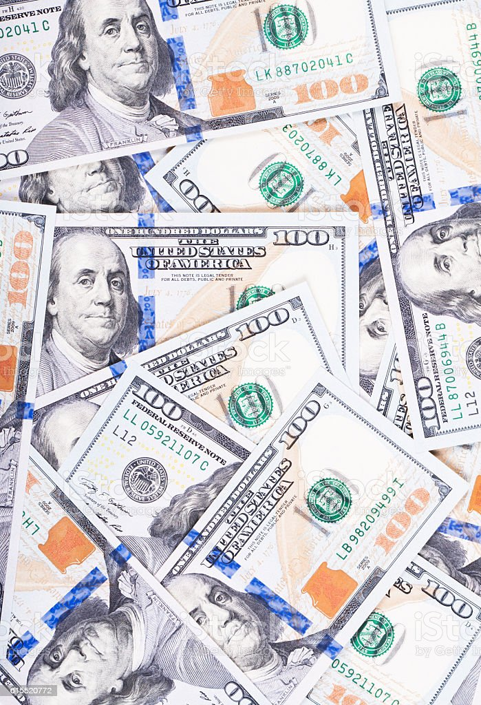 Money bills close up - foto de acervo