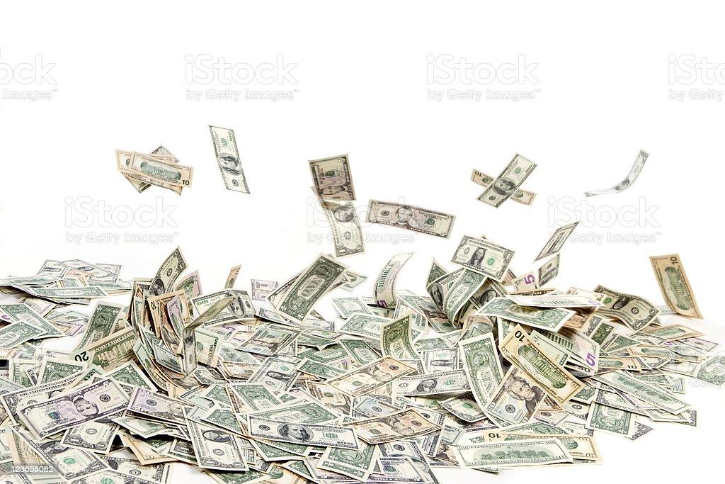Money Blowing Away stock photo