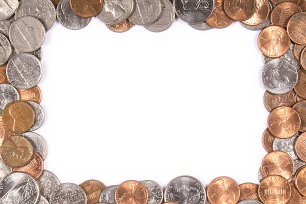 money border - nickel stock photos and pictures
