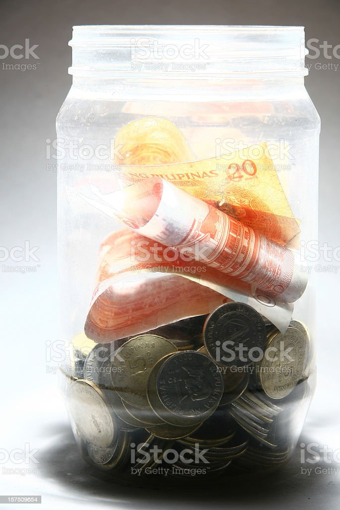 Money Bottle stock photo