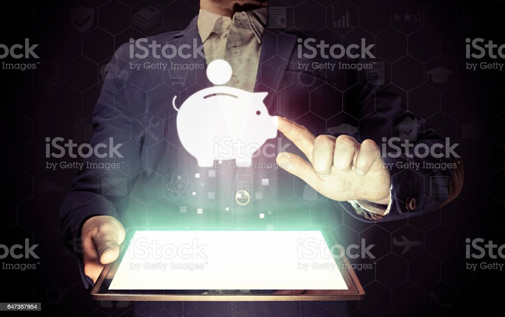 Money box icon. stock photo