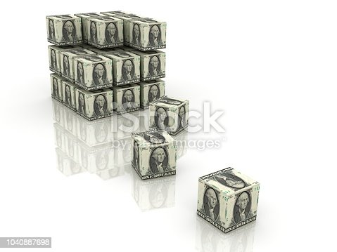 Money building growth investment cubes