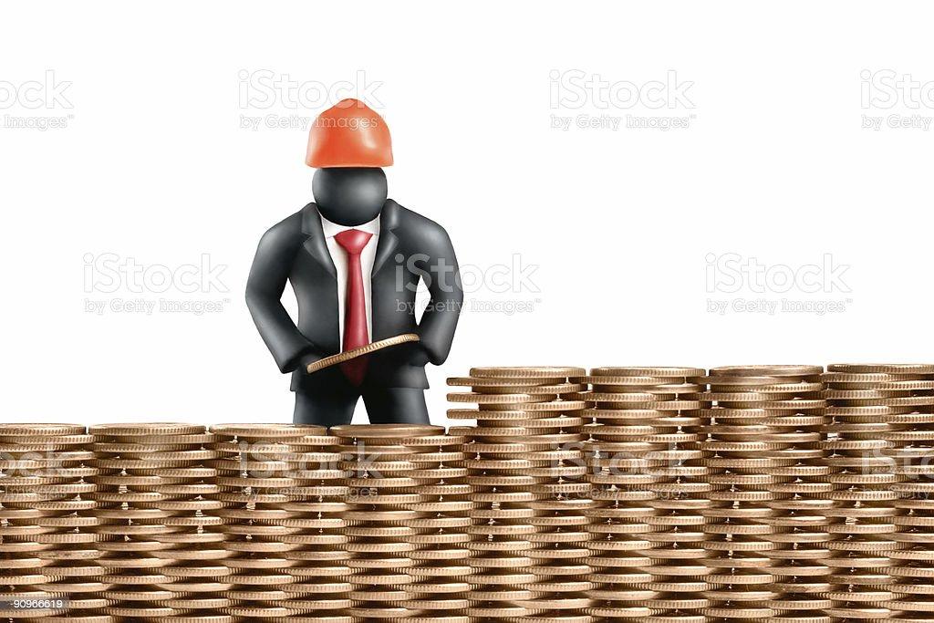 Money building royalty-free stock photo