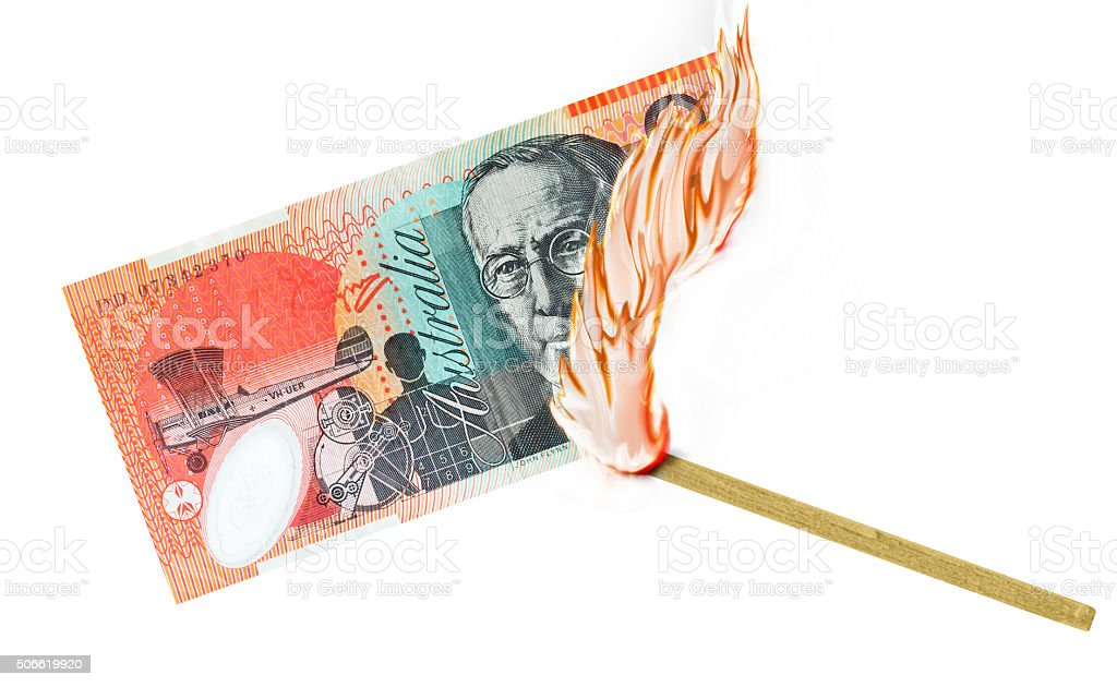 Money Burn royalty-free stock photo