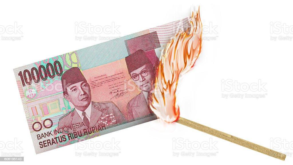 Money Burn stock photo
