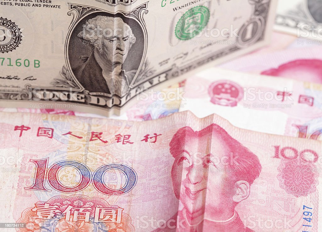Money business concept for china and america royalty-free stock photo