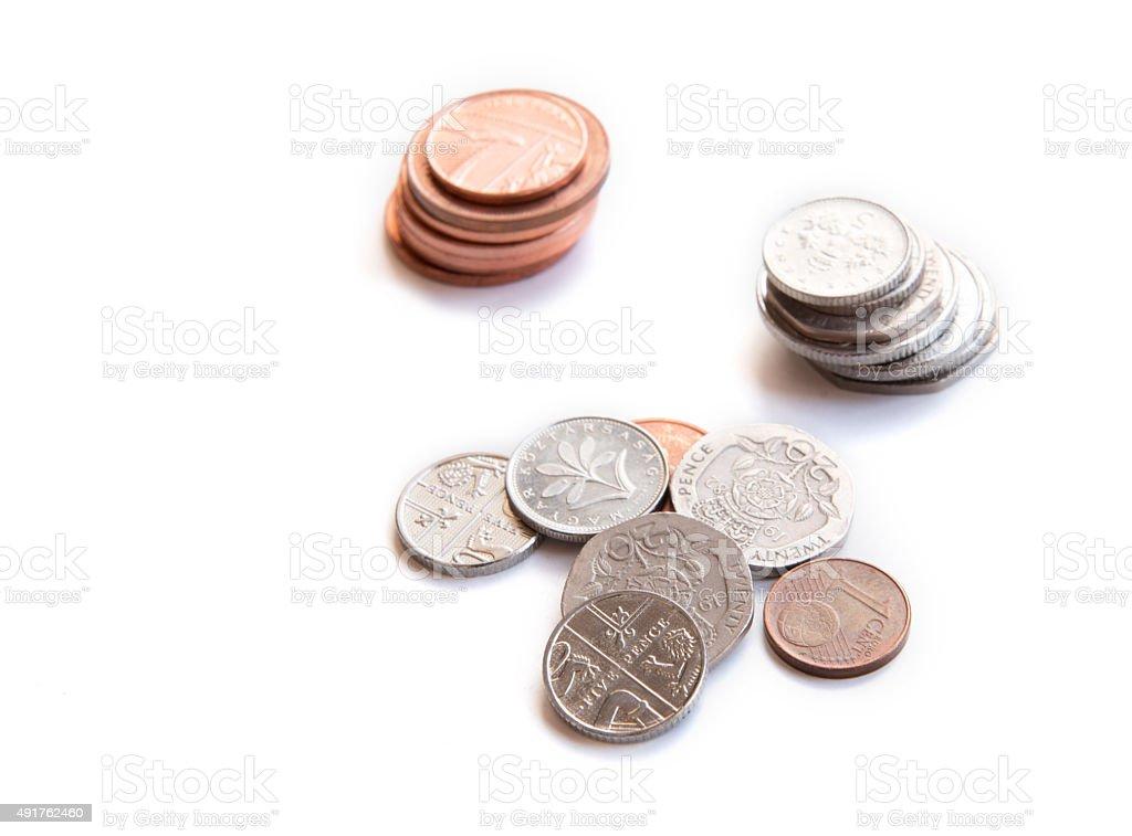 Money cash coins stock photo