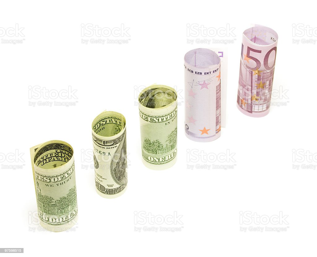 Money cilinders royalty-free stock photo