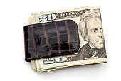 Money clip with US currency